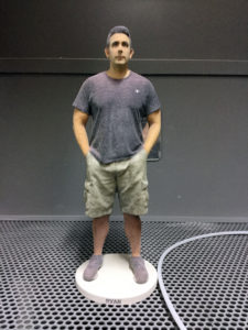 Full length print of a man before infiltration with epoxy (in its green state).