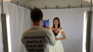 Scanning the bride