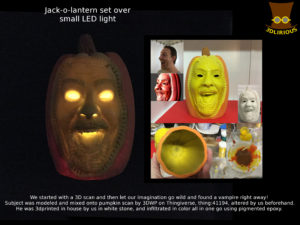 Jack--o-lantern based off a man's scan.