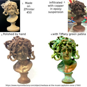 Medusa from Musei Capitolini, Rome; Model by Scan the World